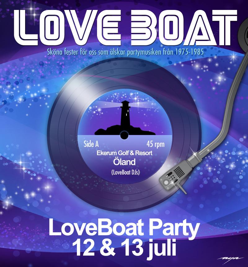 LoveBoat körde två fester på Öland i juli. Flyer av AyaArt